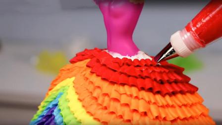 芭比娃娃蛋糕是怎么制作的?成品像个艺术品,难怪一个就卖1000元