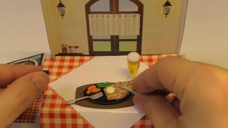 日本食玩玩具 微观食玩 牛排 咖啡 冰淇淋 甜点