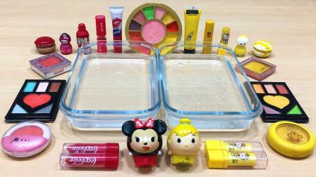 彩妆系列:用黄色、红色彩妆做无硼砂泥,混合后会是什么颜色?