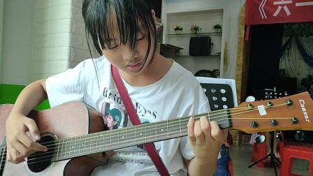 王金慧同学学习吉他视频《兰花草》