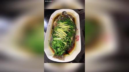 清蒸福寿鱼 牛肉丸生菜汤
