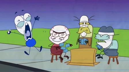 搞笑铅笔动画:小笨蛋吃完饭后在饼干中获得一组数字,这是什么意思呢?
