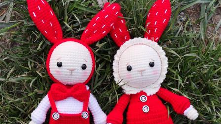 胖丫手作第147集女兔身体、手臂、裙子、衣领钩织教程毛线编织教程钩法