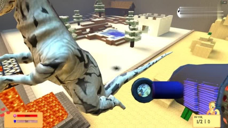 GMOD游戏怪兽用熔浆传送门把熔浆运到水井