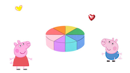 乐享形状乐园教你用彩泥制作好看彩虹切块蛋糕