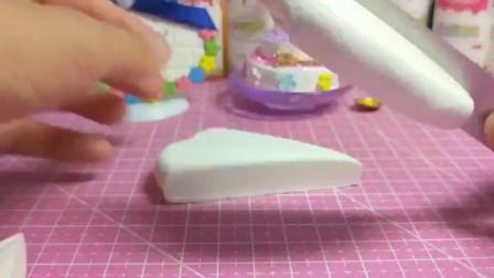 宝宝爱玩玩具:纸黏土蛋糕手工制作湛蓝的海手工纸黏土蛋糕超轻粘土每日更新,欢迎围观