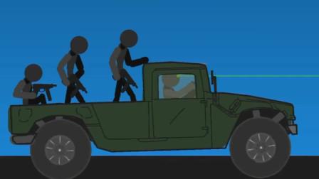 火柴人:阻击汽车上的敌人