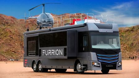 世界最豪华的房车,车顶配有直升机和泳池,为啥有钱都买不到