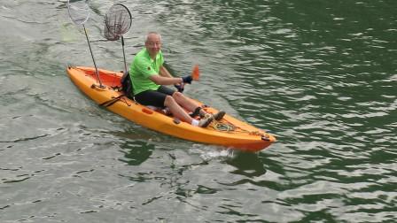 2019年8月12日昆玉河上划船片段