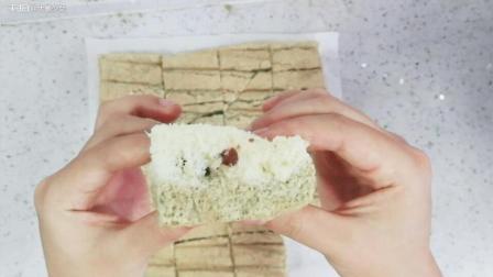双色蜜豆蛋糕呦