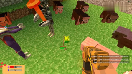 GMOD游戏怪兽用10米大刀对付拿扫把的迪迦