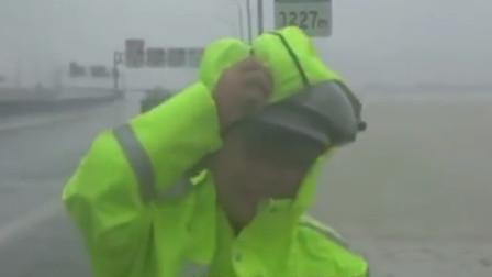 """17级台风""""利奇马""""逼近! 车开30码也晃动"""