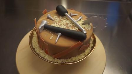 蛋糕还能这样玩?把它做成一整套木匠工具,简单有趣送给老爸啦!