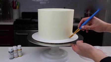 国外达人制作的彩绘蛋糕,看着就很精致,超赞