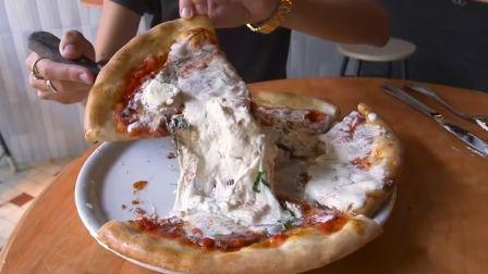芝士就是力量 纽约超好吃的Burrata香浓拉丝奶酪披萨 纯正意式风味