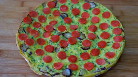 茄子不要炒着吃了,试试这样做的早餐饼,营养美味,做法超简单