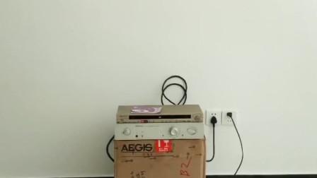 音响发烧友把他的艺术家功放和AE音箱也发来了,接上试听果然动听