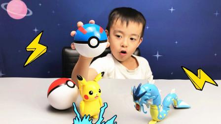 精灵宝可梦暴鲤龙和皮卡丘变形玩具!