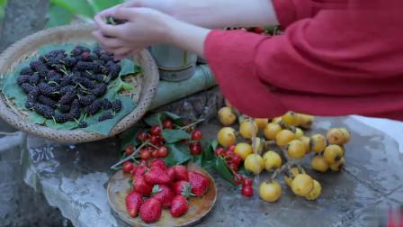 李子柒:凉冰冰甜丝丝的浆果蛋奶冰激凌,是夏天的味道!