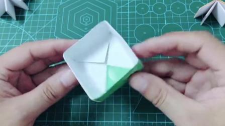 创意手工折纸,看起来是盒子,其实是迷你小本子