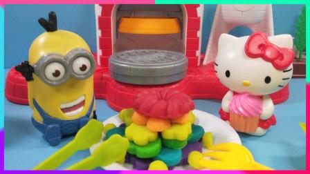 灵犀小乐园之美食小能手 凯蒂猫和小黄人的黏土蛋糕