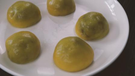 一款好吃又简单的甜品南瓜紫薯奥利奥饼