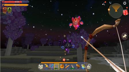 迷你世界游戏真好玩:被三只萌眼咻咻包围的极限生存