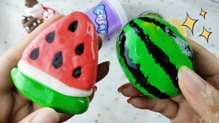 自制西瓜声控球,捏下去嘎嘣脆,教你用2种材料制作哦