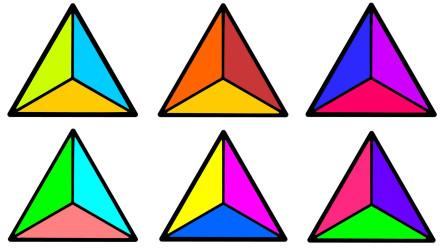 如何简画三角形 然后涂上美丽彩色