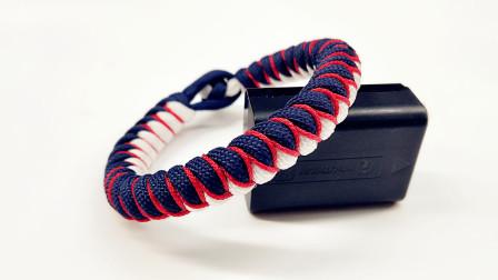 鹊桥恋手环编法分享,细线装饰点缀,很漂亮的一款手链