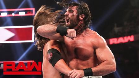 【RAW 08/12】赛斯遭AJ一伙合力欺负,小伙伴李科学和人间怪兽急支援