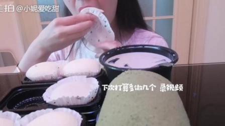 甜品集~雪媚娘 抹茶蛋糕卷 芋圆烧仙草