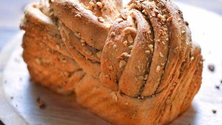 【小高姐】全麦面包 细软绵绵满口香 处理麸皮只要一个步骤