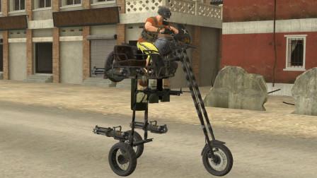 吃鸡动画:这一辆三轮摩托你们见过吗?它自带两把大菠萝