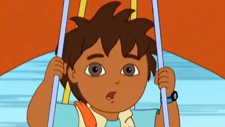 迪亚哥 第一季 迪亚哥用滑翔伞救了动物宝宝,真是个见义勇为的好少年