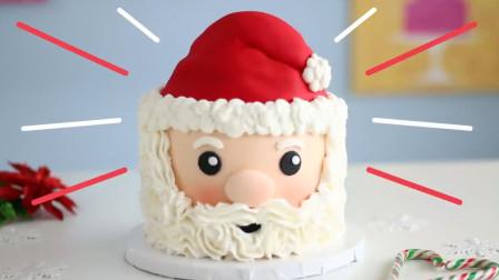 人见人爱的圣诞老人,被甜品师做成了美味蛋糕,简单又好看!