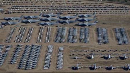 中国还有飞机坟场?外国卫星窥视到一幕,2000架战机整齐停放