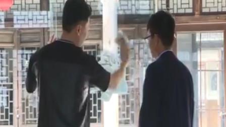 张志波做清洁擦玻璃,张敏健亲自上阵教学,一擦就停不下来!