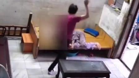 广州一9旬老人床上起不来 遭保姆掌掴拖拽