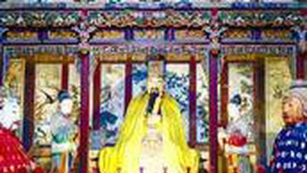 韩城大禹庙是为纪念夏禹而建,殿内所有彩绘壁画,塑像都出自明代