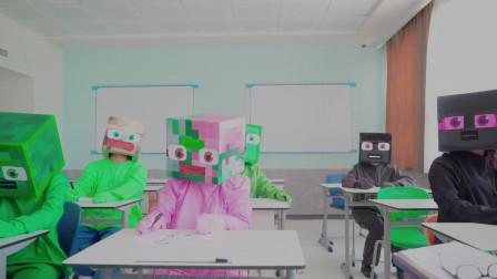 我的世界动画-现实版怪物学院-画画-Monster Eight