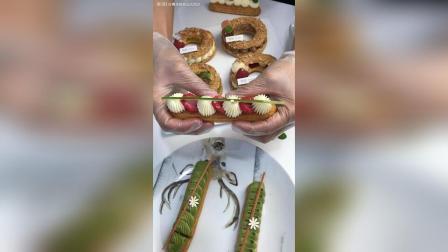 闪电泡芙 树莓香草酱夹心 香缇奶油装饰……