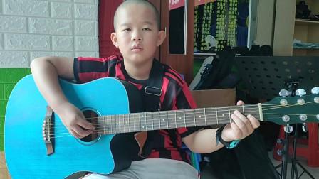 郑博文同学学习吉他视频《小草》