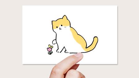 简笔画猫咪窦老师教画画