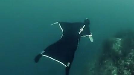 """能让你在水下 """"飞行""""的泳衣! 老外仿生魔鬼鱼, 发明水下翼装!"""