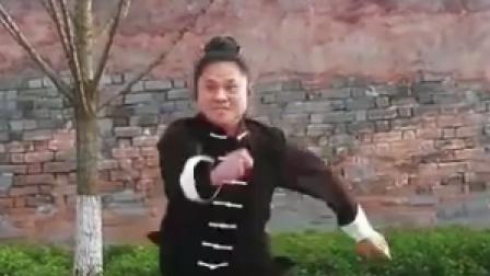 武当弟子演练螳螂拳,融入了太极拳的元素,观赏性更高