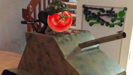 老番茄终于被坦克打成番茄酱