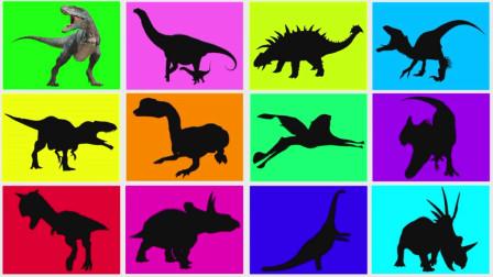 趣味龙卡片 认识双冠龙等12种恐龙