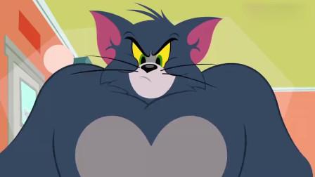 猫和老鼠:汤姆吃了一盘大力饼干,结果身体变异了,眼睛能射激光