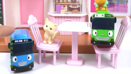安巴汽车总动员玩具,猫咪公主的家,过家家玩具